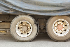 Burst tire truck Royalty Free Stock Photos