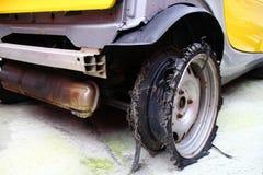 Burst tyre. Stock Images