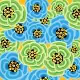 Burst verde del fiore della sorgente illustrazione vettoriale