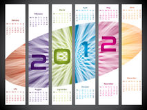Bursting 2012 calendar design. Bursting 2012 colorful label like calendar design Stock Photography