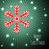 Bursting christmas background with snowflake Royalty Free Stock Image