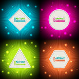 Bursting colorful backgrounds with text container Royalty Free Stock Image