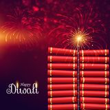 Bursting cracker bomb for happy diwali festival. Vector Stock Photo