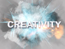 Bursting with creativity text concept Royalty Free Stock Photo