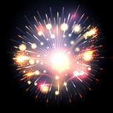 Bursting firework. Festive fireworks in the sky. Colorful illustration vector illustration