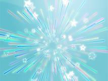 Bursting flying stars illustration Stock Photos