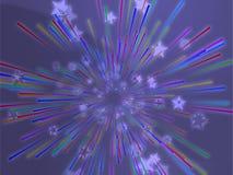 Bursting flying stars illustration Royalty Free Stock Photo