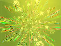 Bursting flying stars illustration Royalty Free Stock Images