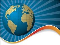 Bursting globe Royalty Free Stock Image