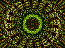 Bursting with Greens and Blacks. This image from a nature landscape became a wonderful kaleidoscope vector illustration