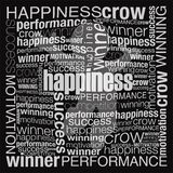 Bursting with happiness. Happiness concept was created with typographic design Stock Photo