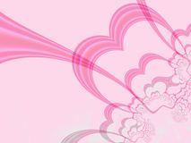 Bursting heart. Fractal in pink with copy space Stock Photography