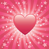 Bursting Heart Background. Love concept -- heart with fancy backgound Stock Photography