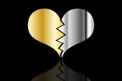 Bursting heart vector. Broken heart Stock Photos