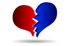 Bursting heart vector. Broken heart Stock Photography