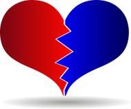 Bursting heart vector. Broken heart Royalty Free Stock Photography