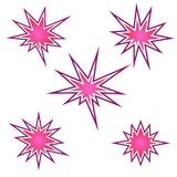 Bursting icon set, bursting star, vector Royalty Free Stock Photography