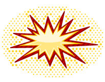 Bursting icon Stock Photography