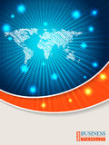 Bursting map brochure with orange wave Stock Image