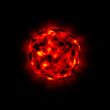 Bursting planet. Bursting fiery planet 3d illustrated Royalty Free Stock Image
