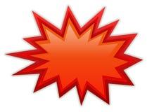 Bursting splash star Royalty Free Stock Image