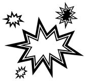 bursting star Royalty Free Stock Image