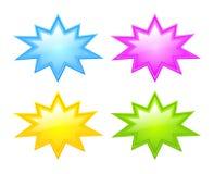 Bursting star icon. Vector bursting stars icons set Stock Photography