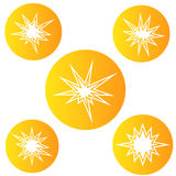 Bursting star, round sign, vector Stock Image