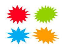 Bursting star. S set vector illustration royalty free illustration