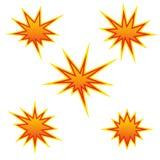 Bursting star, vector. Bursting star, sign, vector illustration royalty free illustration