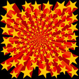 Bursting Stars Background. Yellow and Red Bursting Stars Background Stock Photos