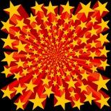 Bursting Stars Background. Yellow and Red Bursting Stars Background Vector Illustration