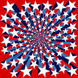 Bursting Stars Background. Red White and Blue Bursting Stars Background Stock Photography