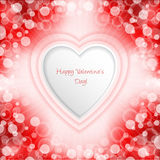 Bursting valentine day greeting with bubbles and stripes Royalty Free Stock Images
