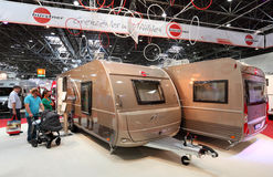Burstner mobile homes Royalty Free Stock Photo