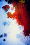 Bursts of multicolored paint. S and mixed together white paper. Drawn splashes of paints of different colors on white surface. Blue, yellow, red, green color Stock Images