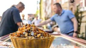 Bursztynu rynek w Gdańskim, Polska Zdjęcia Royalty Free