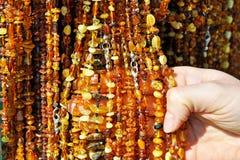 bursztynu targowy kolii kram Zdjęcie Stock