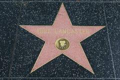 Burt Lancaster gwiazda na Hollywood spacerze sława obrazy stock