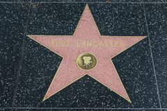 Burt Lancaster star on the Hollywood Walk of Fame stock images
