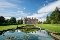 Burton Agnes. A view of the stately home of Burton Agnes from the fish pond, located in Yorkshire, England, UK Stock Photography