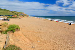Burton Bradstock Beach Dorset. Beach at Burton Bradstock Dorset England UK Royalty Free Stock Photography