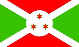 Burundi. National flag of Burundi Vector Illustration