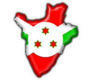 Burundi button flag map shape Royalty Free Stock Photos