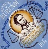 BURUNDI - CIRCA 1989: stamp printed by Burundi, shows Abraham Lincoln, circa 1989 Royalty Free Stock Photography