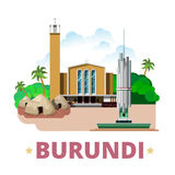 Burundi country design template Flat cartoon style Royalty Free Stock Images