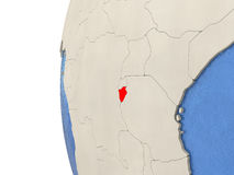Burundi on 3D globe Royalty Free Stock Images