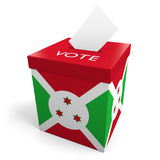 Burundi election ballot box for collecting votes. Rendered in 3D on a white background Stock Photo