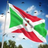 burundi flagę Zdjęcia Stock