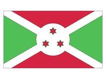 burundi flagę ilustracja wektor